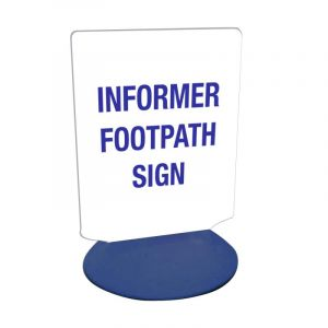 INFORMER FOOTPATH SIGN BASES