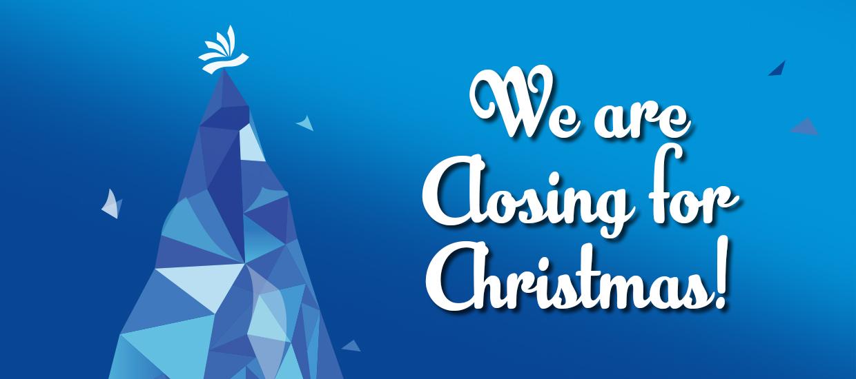 Closing for Christmas