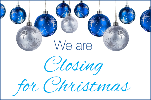 Christmas Closing Hours For 2017
